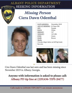 Missing Person Odenthal Ciera