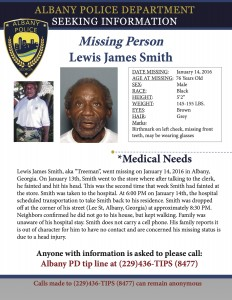 Missing Person Smith Lewis