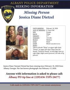 Missing Person Dietzel Jessica